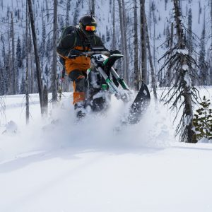 Kyle Jumping Snowbike